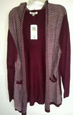 Extra Touch Women's  Plus Open Hoodie Sweater Cardigan With Pockets Size 3X