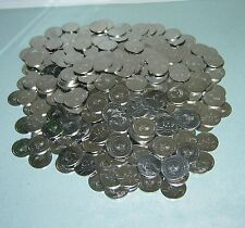 400 STAINLESS SLOT MACHINE TOKENS - NEWLY MINTED DOLLAR SIZE - LOW PRICE !