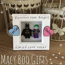 Personalised Gift Present Lego Frame Superhero Dad Daddy Grandad Batman Joker