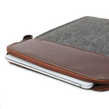 iPad Pro 9.7 Sleeve -Sleeve Felt -Dark Grey & Brown Cover