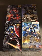 Lot of 4 Bandai Master Grade MG HG Gundam Model Kits