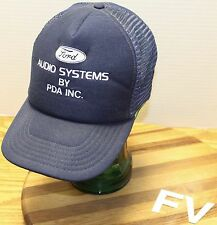 VINTAGE FORD AUDIO SYSTEMS BY PDA INC SNAPBACK HAT BLUE & WHITE GOOD CONDITION