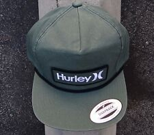 New Hurley Surfing M One & Only Green Mens Snapback Hat One size Fit HTHRL-19
