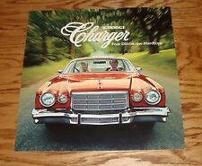 Original 1976 Dodge Charger Sales Brochure 76 Daytona Sport