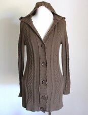 GAP Cable Knit Hooded Hoodie Cardigan Tunic Sweater Jacket Coat Sweatercoat XS