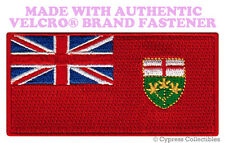 ONTARIO FLAG PATCH CANADA EMBROIDERED new CANADIAN w/ VELCRO® Brand Fastener