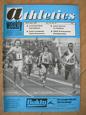 ATHLETICS WEEKLY MAY 28th 1977 FILBERT BAYI DEFEATS STEVE OVETT IN 3000m