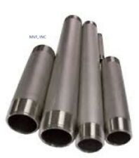 """1/2"""" X 4"""" Threaded NPT Pipe Nipple S/40 304 Stainless Steel BREWING   SN225"""