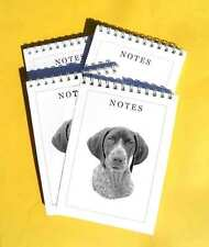 German Shorthaired Pointer Pack of 4, A6 Dog Note Pads Gift Set