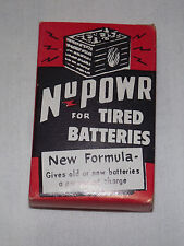 VINTAGE 1950-60S CAR AUTO NU POWR FOR TIRED  6 & 12 VOLT BATTERIES IN BOX