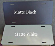 25 pcs. .040 Gloss White / Matte Black  Aluminum License Plate/Car Tag Blanks