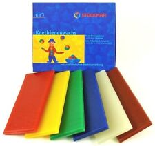 Stockmar 100% Pure Modeling Beeswax Sheets - Teaching Aid - 6 Colors - 628503