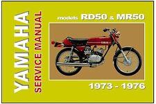 YAMAHA Workshop Manual RD50 & MR50 1973 1974 1975 & 1976 Service & Repair