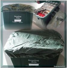 x3 NEW RECYCLING BOX COVERS..TIE ON WEATHER/PEST PROOF **FROM REG UK SELLER**