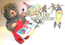 Antique WIND UP METAL BEAR TURNS PAGES IN BOOK...IT WORKS WELL...GREAT GIFT !!!