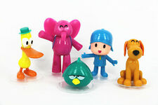 5pcs/set Pocoyo Pato Elly Loula Sleepy Bird PVC Action Figures Toys Kids Gift
