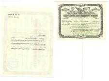 Scripophily  City plumbing and construction Company 1892, 100$
