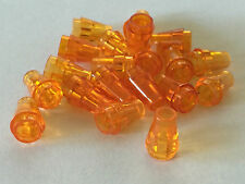 *NEW* 20 Pieces Lego SMALL Cone 1x1 TRANS ORANGE