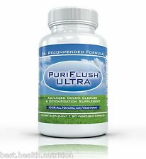 PURIFLUSH ULTRA: Advanced All Natural Colon Cleansing Supplement - 60 Capsules