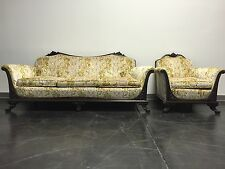 ANTIQUE Victorian Mahogany Frame Sofa & Chair