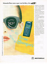 PUBLICITE ADVERTISING 045  1995  MOTOROLA    téléphone portable  FLARE