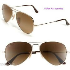 GOLD BROWN AVIATOR RETRO 80's CLASSIC SUNGLASSES UV400 MENS LADIES UNISEX