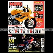 MOTO JOURNAL N°1331 SIDE-BIKE RENAISSANCE HONDA VTR 1000 CAGIVA GRAN CANYON 900