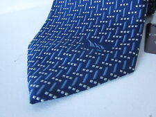 "BNWTS TM LEWIN TIE 100% SILK WEAVE BLUE ""YACHTING BOAT SAILS"" FREE POST WOVEN"