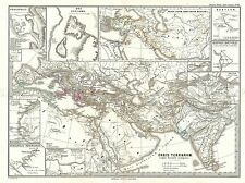 GEOGRAPHY MAP ILLUSTRATED ANTIQUE SPRUNER PERSIAN EMPIRE POSTER PRINT BB4485A