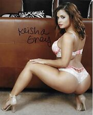 KEISHA GREY MODEL ADULT FILM STAR SIGNED AUTOGRAPH 8X10 PHOTO #3 W/ PROOF