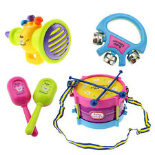 Hot 5pcs Kids Baby Roll Drum Musical Instruments Band Kit Children Toy Gift Set