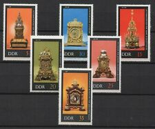 Germany DDR 1975 Sc# 1655-1660 Mint MNH Dresden museum table clocks time stamps