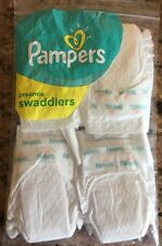 FOUR (4) REAL PAMPERS MICRO PREEMIE DIAPERS FOR REBORN OOAK BABY DOLLS TINY