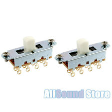 TWO PACK Switchcraft On-Off-On Slide Switches For Fender Mustang Jag Stang WHITE