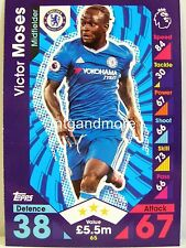Match Attax 2016/17 Premier League - #065 Victor Moses - Chelsea FC