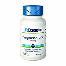 Pregnenolone, 100mg x 100Caps, Life Extension, 24Hr Dispatch