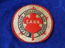 CANADIAN AFFILIATION GUN OWNERS C.A.G.O. CANADA MAPLE LEAF VINTAGE PATCH BADGE