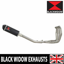 GSX 1300 R HAYABUSA 99-07 4-1 EXHAUST SYSTEM BLACK STEEL + CARBON SILENCER 300BT