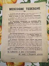 Volantino di propaganda 1a guerra Mondiale per le truppe 1/16