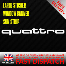 AUDI QUATTRO Sticker Badge for Sun strip Vinyl Decal Banner Sponsor Visor A3 A4