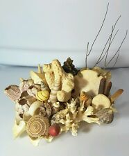 Vintage OCEAN sea shell coral statue GORGEOUS nautical decor hand made display
