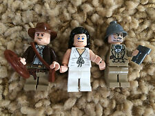 3 Lego 7687 7198 Indiana Jones Marion Ravenwood Henry Sr. Jones Minfigures Lot 5