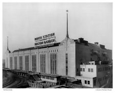 """16""""x20"""" PHOTO: EXTERIOR VIEW, OLD BOSTON GARDEN, NORTH STATION """"ALL STAR BOUTS"""""""