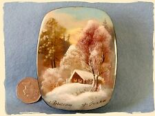Russian SMALL hand pained trinket LACQUER Box FEDOSKINO GUSACK signed UNIQUE ART