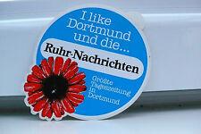 ALTER DORTMUND RUHR NACHRICHTEN ZEITUNG  AUFKLEBER REKLAME STICKER WERBUNG !!