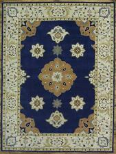 Breathtaking Royal Blue Floral 9x12 Tabriz Oushak Oriental Area Rug Wool Carpet