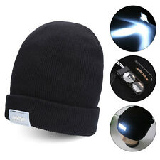 5-LED Lighted Cap Hat Winter Warm Beanie Angling Hunting Camping Running Fishing