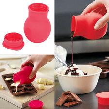 Soft Silicone Chocolate Melting Pot Mold Mould Butter Sauce Baking Jug Pouring