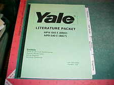 2003  2004 YALE FORK LIFT TRUCK MAINTENANCE, USER INSTRUCTIONS, WIRING DIAGRAMS