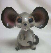 Large Norcrest Japan Big Ear Mouse BobbleHead/Nodder #A381